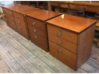Stag Low Chest & Two Bedside Tables Teak Mid Century Retro Vintage