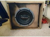 Pioneer sub and amp big bass 3000w subwoofer