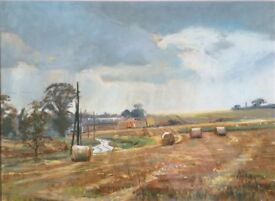 Signed Original Margaret Glass pastel painting, Between Showers, East Anglia.