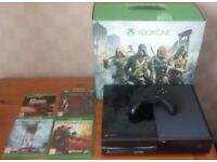 Xbox One with 4 Games, Controller and original box in very good condition
