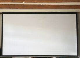 Projector screen, electronic 16:9