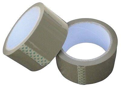 36 Rollen 50mm 66m Paket Klebeband Packband Paketband BRAUN