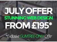 JULY OFFER £195 STUNNING WEBSITE DESIGN | FREELANCE WEB DESIGNER DEVELOPER LOGO DESIGN CHEAP LONDON