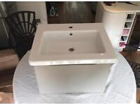 Bathroom vanity unit and sink