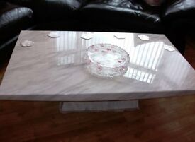 Large Heavy Marble top and base coffee table