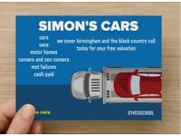 simons cars scrap cars wanted cash paid today