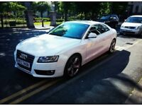 FULL YEARS MOT, FSH, STUNNING WHITE Audi A5 Coupe Sport 1.8 TFSI