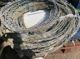 Fencing 3 x rolls Razor wire