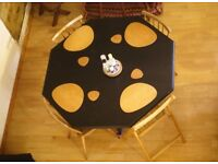 Designer 4-12 seater Black Wooden Extendable Dining Table (Option with chairs or without)