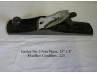 Stanley No. 6 Fore Plane.