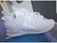 Adidas EQT adv size 8 uk triple white