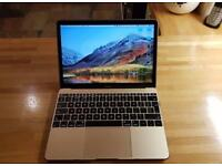 Apple Gold 12 Inch Macbook Mac Laptop 512GB 8GB Ram Warranty Apple Care October 2018