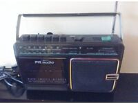 Nice Vintage Pye Radio Cassette Recorder.