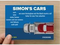 SIMON'S CARS cash paid today!!!!