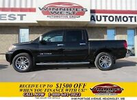 2013 Nissan Titan Black/Black SL Crew 4x4, Leather, Sunroof, Dua