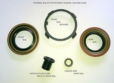 TH700R4 4L60E SEAL UP KIT WITH FRONT SEAL RETAINER, ALSO FITS TH200-4R