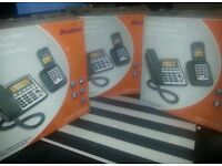 3 x Binatone corded telephones with answer machine
