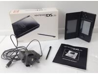 Nintendo DS Lite Black Console with Charger, Stylus, More Brain Training Game, Essential 8 in 1 Pack