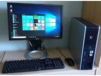 """HP Windows 10 Pro PC Computer/WIFI/2GB RAM/500GB/19""""Monitor"""