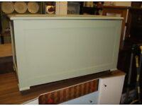 Roomy oak blanket box / ottoman / storage trunk in Derby