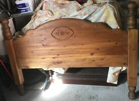 Hand made solid wood headboard for double bed (Queen size, up to 5ft wide) - £40
