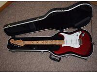 Fender Standard Stratocaster with Upgrades & Hard Case EMG Pickups Candy Apple Red Strat