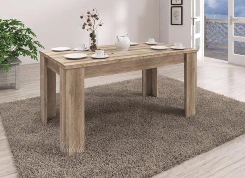 Eettafel Klein Uitschuifbaar.Uitschuifbare Eettafel Sonia 140 180cm Eiken