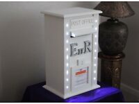 WEDDING POST BOX WITH LED LIGHTS, BEST WISHES DECORATIONS, VENUE DRESSING