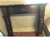 FOR SALE - PRICED TO SELL QUICKLY! - Granite Hearth, Fireplace Surround, TV Unit & Occasional Chair