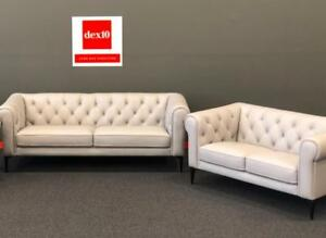 Top Grain Leather Sofa and Loveseat w/ ottoman
