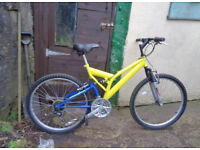 Gents 18 speed mountain bike