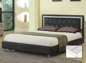Black Bed with crystal buttons (IF278)