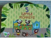 5 LITTLE MONKEYS Child's Breakfast Set BRAND NEW in Fine Bone China Microwave & Dishwasher Safe