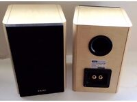 TEAC 300 Solid (light) Wood speakers. 50watt. Perfect condition and sound. Brilliant Separation.