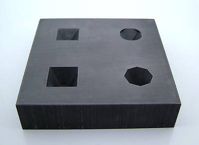 Graphite Facet Mold Crystal Marbles Circular Square 3D