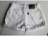 90's Ralph Lauren White Denim Shorts
