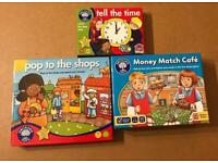BUNDLE OF 3 ORCHARD TOYS GAMES FOR AGEE 5-8. ALL IN VERY GOOD CONDITION.