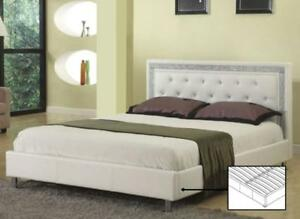 MODERN PLATFORM BED | ALSO AVAILABLE - LOW PLATFORM BED, MODERN COOL LOOKING LEATHER BED (IF85)
