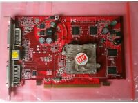 ATI X1300 512 Mbyte card , twin DVI and TV output, full working order with cooling fan