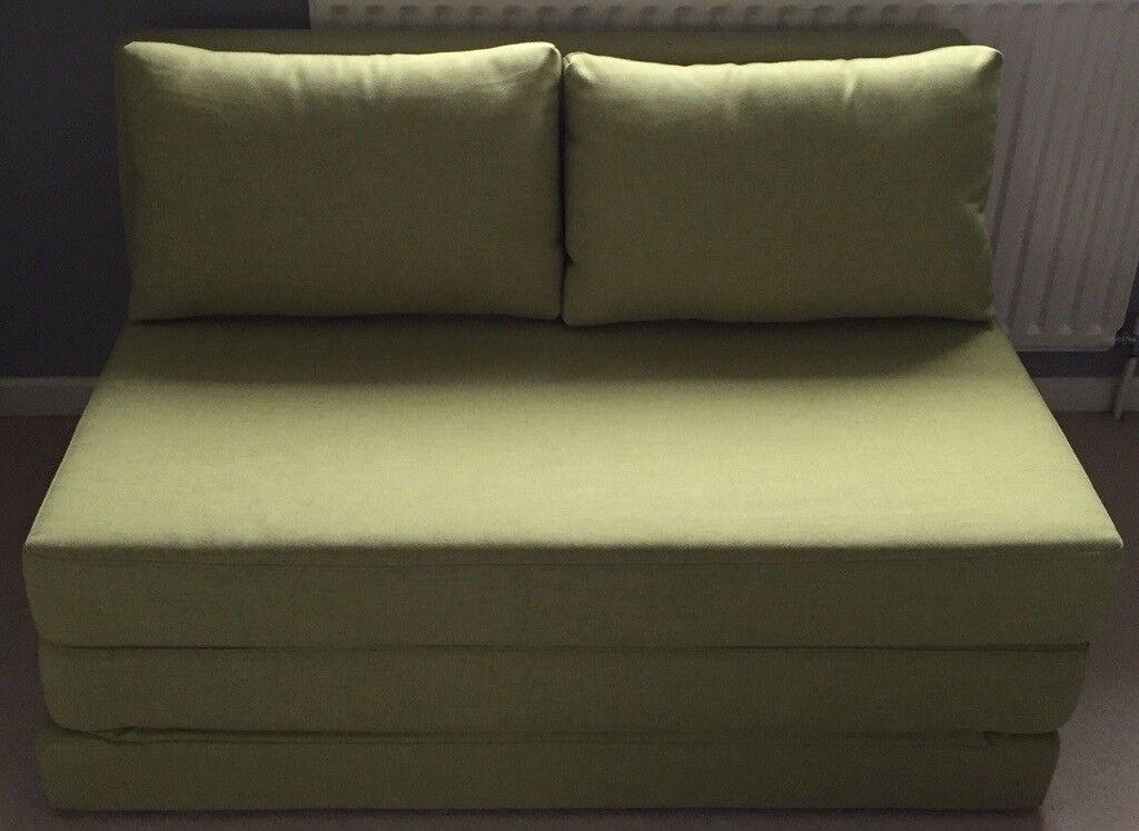 John Lewis Partners Kip Small Double Sofa Bed With Foam Mattress Green Light Leg