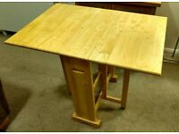 Pine gateleg dining table 610 x 910 mm