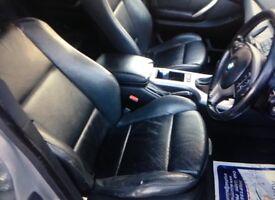 BMW X5 black leather sports seats