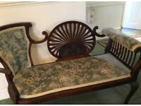 Vintage Mahogany Early 20th Century Style Love Seat