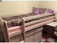 Girls bunk bed with mattress included