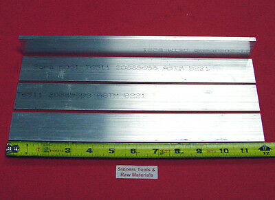 4 Pieces 14 X 1-12 Aluminum 6061 Flat Bar 12 Long T6511 New Mill Stock .25
