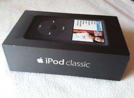 IPod Classic Black 80GB. Hardly used