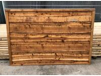 🦔 HEAVY DUTY TANALISED BROWN WOODEN WANEYLAP GARDEN FENCE PANELS