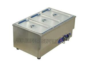 Bain Marie Food Warmer Steam Table 110V 1500W Restaurant Buffet Item Number 190200