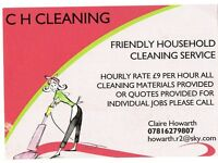 FREINDLY RELIABLE CLEANER COMPETATIVE HOURLY RATE SERVING M245PE AND SURROUNDING AREAS