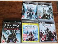PS3 Assassins Creed game collection